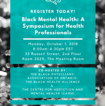 Two Upcoming Events (Black Mental Health Symposium & SMART Mentorship Launch!)